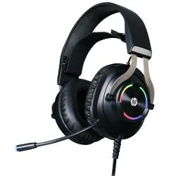 HEADSET GAMER C/ MICROFONE HP VIRTUAL SOM SURROUND MOD H360GS PRETO