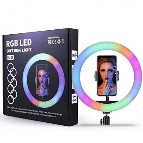 ILUMINADOR LED SOFT RING LIGHT 26CM RGB