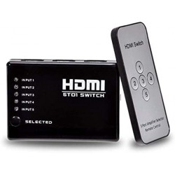 SWITCH HDMI 1 X 5 PORTAS 1080P COM CONTROLE