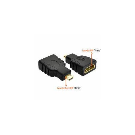 ADAPTADOR HDMI FÊMEA P/ MICRO HDMI MACHO PLUS DATA