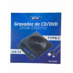 GRAVADOR DVD-RW EXTERNO USB 3.0 KNUP MOD KP-LE303