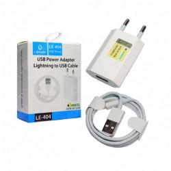CARREGADOR TOMADA LIGHTNING USB LEHMOX MOD LE-404