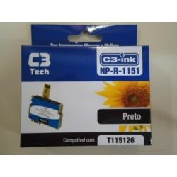 CARTUCHO C3TECH COMPATÍVEL EPSON MOD NP-R-1151 PRETO