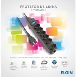 FILTRO DE LINHA ELGIN 6 TOMADAS 1.5 M