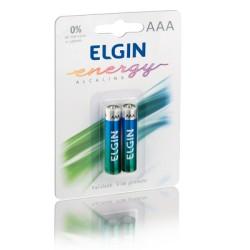 PACK C/ 2 PILHAS AAA ALCALINA LR03 ELGIN MOD 82154