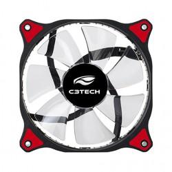 COOLER P/ GABINETE C3TECH 12X12 C/ LED AZUL STORM MOD F7-L130