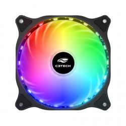 COOLER P/ GABINETE C3TECH 12X12 C/ LED STORM MOD F9-L150 RGB