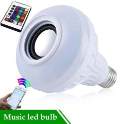 LÂMPADA LED MUSIC BULB BLUETOOTH BULBO RGBW 3W RMS