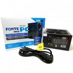 FONTE 500W REAL KNUP C/ CABO FORÇA MOD KP-522
