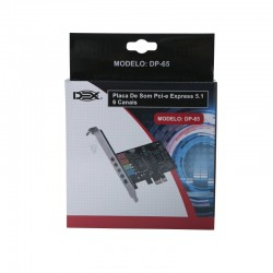 PLACA SOM 5.1 PCI EXPRESS DEX MOD DP-65