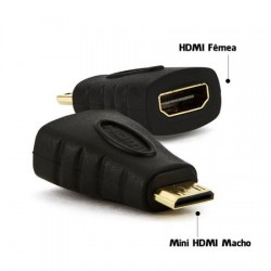 ADAPTADOR HDMI FÊMEA P/ MINI HDMI MACHO MOD 1405