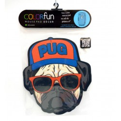 PAD MOUSE DECOR COLORFUN PUG RELIZA