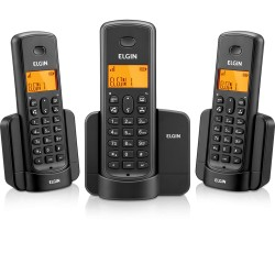 TELEFONE S/ FIO ELGIN TSF8003 VIVA-VOZ / IDENT. CHAMADAS / 2 RAMAIS