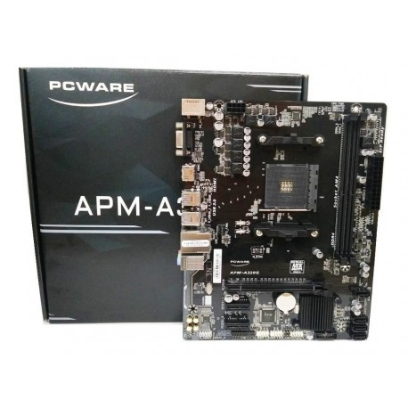 PLACA-MÃE PCWARE AM4 APM-A320G S/V/R DDR4