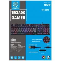 TECLADO HOOPSON GAMER LED USB MOD TPC-061X