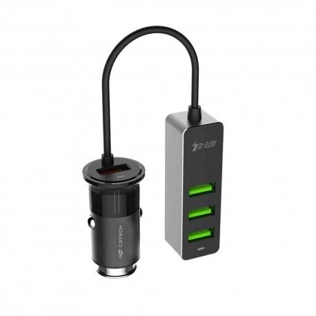 CARREGADOR VEICULAR 4 SAIDAS USB C3TECH MOD UCV-430BK