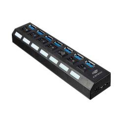 MINI HUB USB 7 PORTAS 3.0 C3TECH MOD HU-S370BK