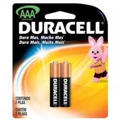 PACK C/ 2 PILHAS AAA ALCALINA 6417 MN2400 DURACELL