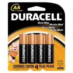 PACK C/ 4 PILHAS AA ALCALINA 74445 MN1500 DURACELL