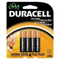 PACK C/ 4 PILHAS AAA ALCALINA 6414 MN2400 DURACELL