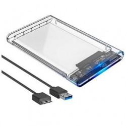 GAVETA EXTERNA USB HD 2,5 SATA DEX 3.0 MOD DX-2530T TRANSPARENTE