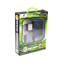CARREGADOR TOMADA 1.5A BIVOLT X-CELL MOD XC-V8/MICRO USB